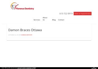 Damon Braces Ottawa