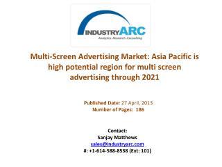 Multi-Screen Advertising Market Analysis | IndustryARC