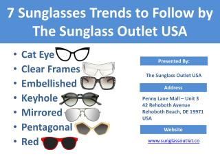Know the 7 kinds of Sunglasses to buy - Sunglass Outlet USA