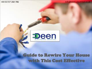 Guide to Rewire Your House with This Cost Effective