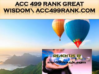 ACC 499 RANK Great Wisdom\ acc499rank.com