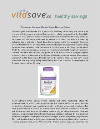 Womensense Estrosense: Maintain Healthy Hormonal Balance