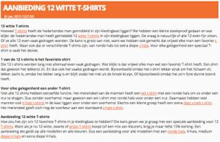 12 Witte Shirts