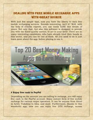 Dealing With Free Mobile Recharge Apps With Great Source