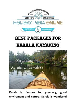 Best Packages For Kerala Kayaking