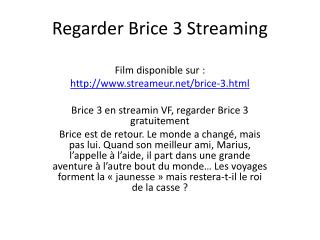 Regarder Brice 3 Streaming