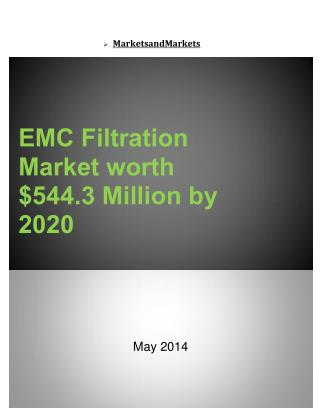 EMC Filtration Market worth $544.3 Million by 2020