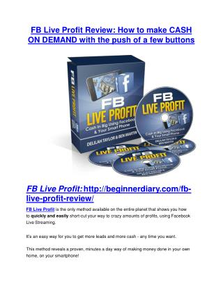FB Live Profit review and (COOL) $32400 bonuses