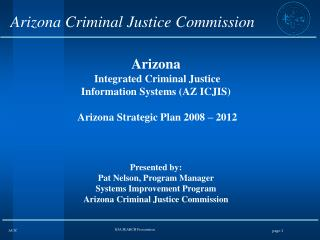 Arizona Criminal Justice Commission