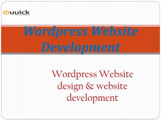 Wordpress Website Development | Quuick