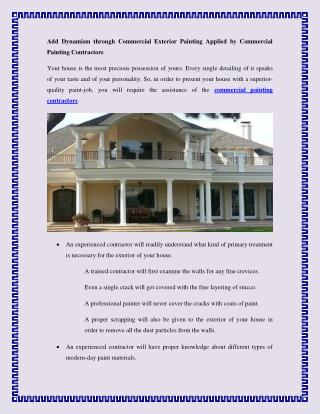Add Dynamism through Commercial Exterior Painting Applied.pdf