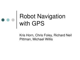 Robot Navigation with GPS