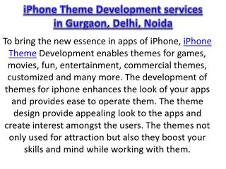 iPhone Theme Development services in Gurgaon, Delhi, Noida