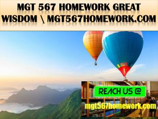 MGT 567 HOMEWORK Great  Wisdom \ mgt567homework.com