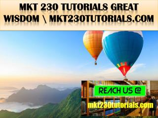 MKT 230 TUTORIALS Great  Wisdom \ mkt230tutorials.com