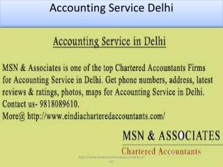 Accounting Service in Delhi