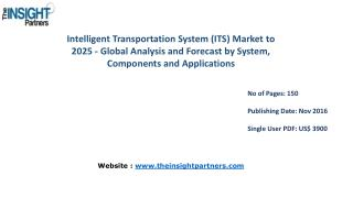 Intelligent Transportation System (ITS) Industry Market Share, Size, Forecast and Trends by 2025– The Insight Partners