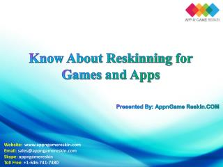 Know about Reskinning for Games and Apps - AppnGameReskin