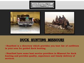 Duck Hunting Missouri