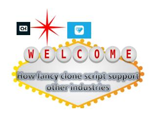 How fancy clone script support other industries