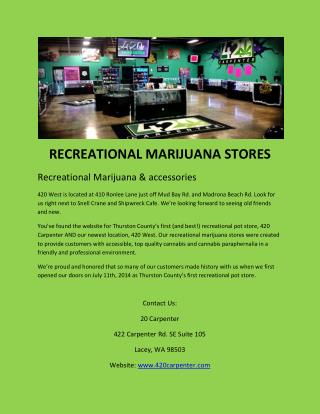 Recreational Marijuana Stores