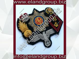 Bullion wire blazer badges