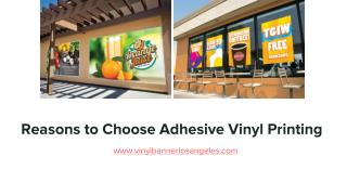 Reasons to Choose Adhesive Vinyl Printing