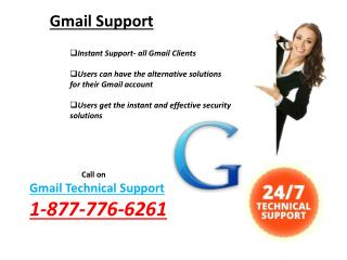 Elimination of all Gmail issues Via 1-877-776-6261 Gmail Support