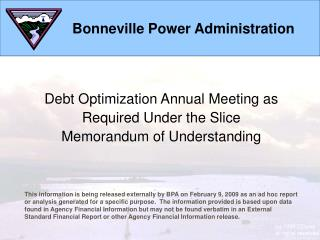 Debt Optimization Meeting Materials