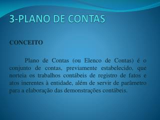 3-PLANO DE CONTAS