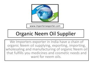 Neem Oil Suppliers in India