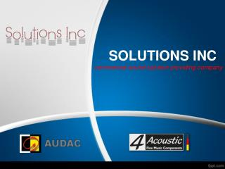 solutions inc mix series