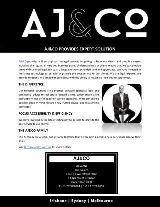 AJ&CO PROVIDES EXPERT SOLUTION