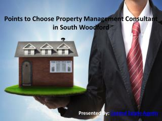 Points to Choose Property Management Consultant in South Woodford