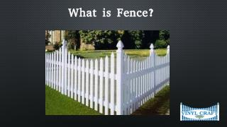 What is Fences and Its Types?