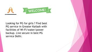 PG Service in Greater Kailash