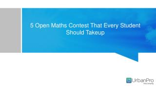 5 Open Maths Contest That Every Student Should Takeup