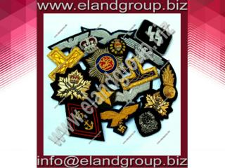 Hand Embroidery Bullion badges Supplier