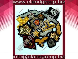 Hand Embroidery Bullion badges Supplier