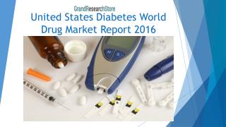 United States Diabetes World Drug Market Report 2016