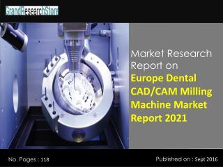 Europe Dental CAD/CAM Milling Machine Market Report 2021