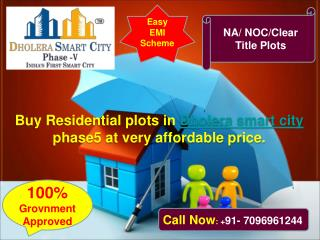 Residential plots for sale in Dholera smart city phase 5