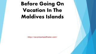 Information You Need Before Going On Vacation In The Maldives Islands