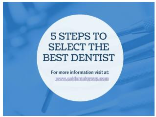 Select the Best Dentist