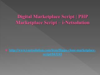 Digital Marketplace Script | PHP Marketplace Script – i-Netsolution