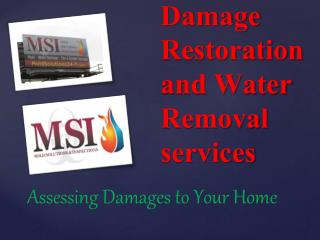 Water Damage Restoration and Water Removal services