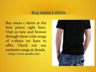 Men�s t shirts online shopping