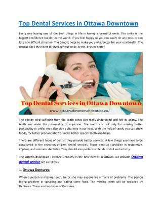 Top Dental Services in Ottawa Downtown