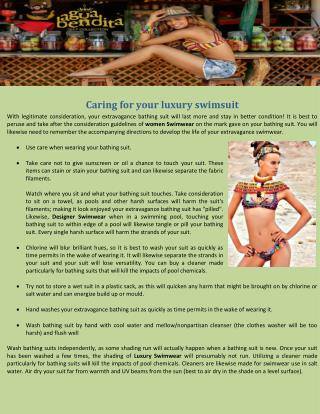 Caring for your luxury swimsuit