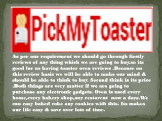 Best Toaster Ovens in Canada